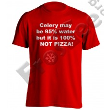 Celery May be 95% water but it is 100% not pizza!