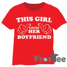 This girl loves her boyfriend